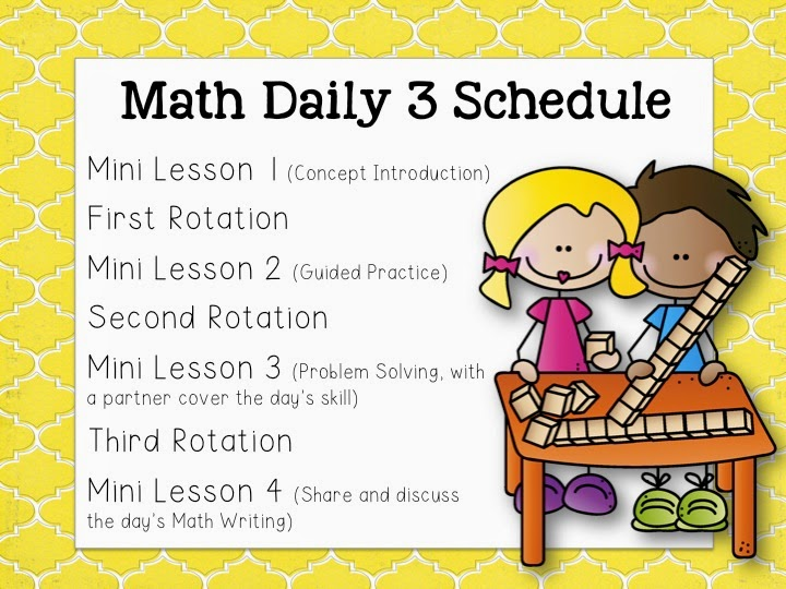 elementary school daily schedule template