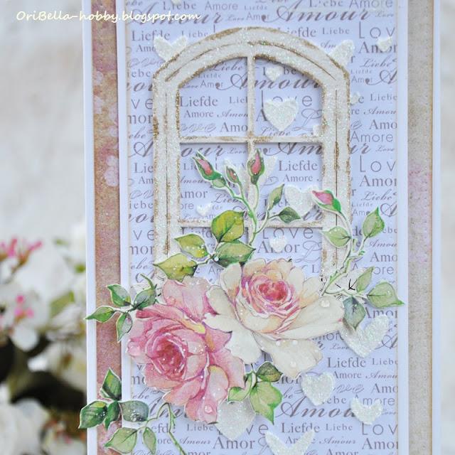 692. Ślubna kartka z okienkiem.