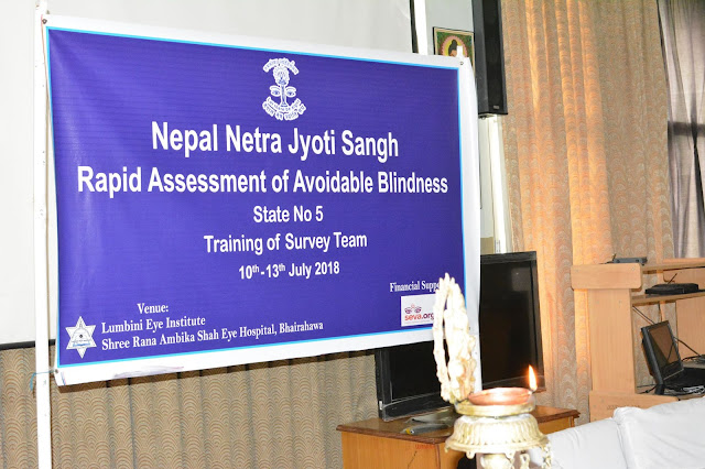 RAAB Survey training at Lumbini eye institute