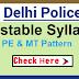 SSC Delhi Police Executive Constable Syllabus 2020