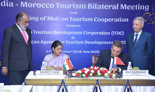 India – Morocco Tourism Bilateral meeting held in New Delhi today news in hindi