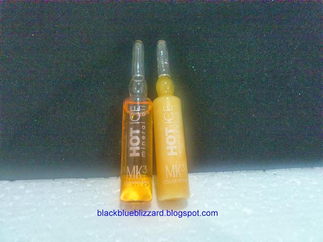 Makarizo, MK3, MK3 Hot ice, mineral oil, hair serum, color treated hair serum, hair serum review, hair serum for colored hair