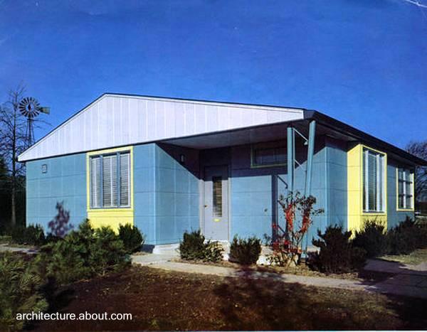 Modelo de casa Lustron en Estados Unidos