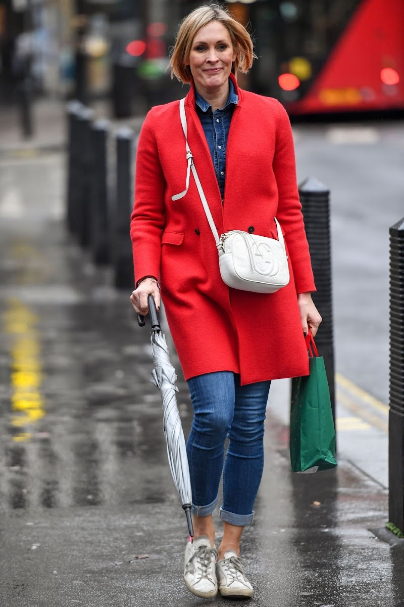 Jenni Falconer Spotted At Global Radio in London 23 Dec-2020