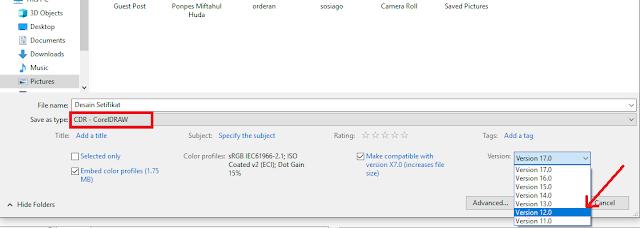 Cara Simpan File Coreldraw Agar Dapat Dibuka di Semua Versi
