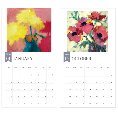 2020 Floral Wall Calendars by Barb Mowery