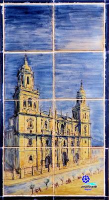 Sevilla - Plaza de España - Banco-azulejo de Jaén - Catedral de Jaén