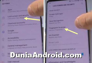Cara pengaturan Fingerprint Samsung Galaxy S8