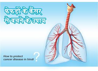 fefdo ke cancer se bachne ke upay in hindi, फेफड़ों के कैंसर से बचने के उपाय in hindi, How to save of lung cancer in hindi, The remedy of lung cancer in hindi, फेफड़ों के कैंसर से तात्पर्य कैंसर के ऐसे प्रकार से है in hindi, जिसकी शुरूआत फैफड़ों में होता है in hindi, fefdo ke cancer se bachne ke upay ke  hindi pdf , फेफड़े मानव शरीर की छाती में दो स्पंजी अंग होते हैं in hindi, जो व्यक्ति की सांस लेने पर ऑक्सीजन को शरीर में पहुंचाते हैं in hindi, और वहीं उसकी सांस छोड़ने पर कार्बन डाइऑक्साइड को बाहर छोड़ते हैं in hindi, लंग कैंसर के 80 प्रतिशत मामले धूम्रपान की वजह से होते हैं in hindi, ब्रेस्ट कैंसर in hindi, कोलोन कैंसर और प्रोस्टेट कैंसर की वजह से होने in hindi, वाली कुल मौतों का आंकड़ा लंग कैंसर की वजह से मरने वालों की संख्या से कम है in hindi, आमतौर पर ऐसा माना जाता है in hindi, कि जो व्यक्ति रूमपान करते हैं in hindi, उन्हें फेफड़ों के कैंसर की संभावना रहती है in hindi, परन्तु कैंसर अन्य नशीले पदार्थों जैसे गुटखा in hindi, तंबाकू इत्यादि का सेवन करने से भी हो सकता है in hindi, स्मोकिंग करने से बचना लंग कैंसर के लिए अहम है in hindi, जो लोग सिगरेट in hindi, बीड़ी या किसी अन्य प्रकार की स्मोकिंग करते हैं in hindi, कोशिश करें कि धीरे-धीरे आप इस आदत को कंट्रोल कर सकें in hindi, कई लोग खतरनाक केमिकल्स के सम्पर्क में आने से भी लंग कैंसर का शिकार हो जाते हैं in hindi, जहां आसपास केमिकल्स की फैक्ट्री है in hindi, या किसी और तरीके से हवा में केमिकल्स घुलने की संभावना बनती है in hindi, कैंसर के कारण शरीर के किसी हिस्से की कोशिकाएं अनियंत्रित रूप से विभाजित होने लगती हैं in hindi, कैंसर जिस अंग से शुरू होता है वहां से दूसरे अंगों में भी फैल सकता है in hindi, कैंसर की मुख्य रूप से चार अवस्थाएं होती हैं in hindi, पहली और दूसरी अवस्था में कैंसर का ट्यूमर छोटा होता है in hindi, और आस-पास के टिश्यूज की गहराई में नहीं फैलता in hindi, तीसरी अवस्था में कैंसर विकसित हो चुका होता है in hindi, जब ट्यूमर बड़ा हो चुका होता है in hindi, और अन्य भागों में फैलने की संभावना बढ़ जाती है in hindi, तो इसे चैथी अवस्था कैंसर की आखिरी अवस्था होती है in hindi, कैंसर खून से भी फैलता है in hindi, इस