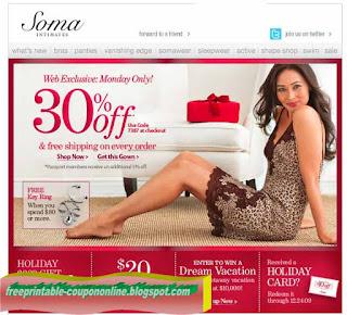 Free Printable Soma Intimates Coupons