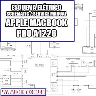 Esquema Elétrico Notebook Laptop Notebook Apple Macbook Pro A1226 Manual de Serviço  Service Manual schematic Diagram Notebook Laptop Apple Macbook Pro A1226    Esquematico Notebook Laptop Apple Macbook Pro A1226