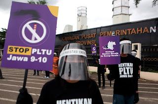 Warga Banten Serukan Beralih ke Energi Bersih Sekarang Juga!