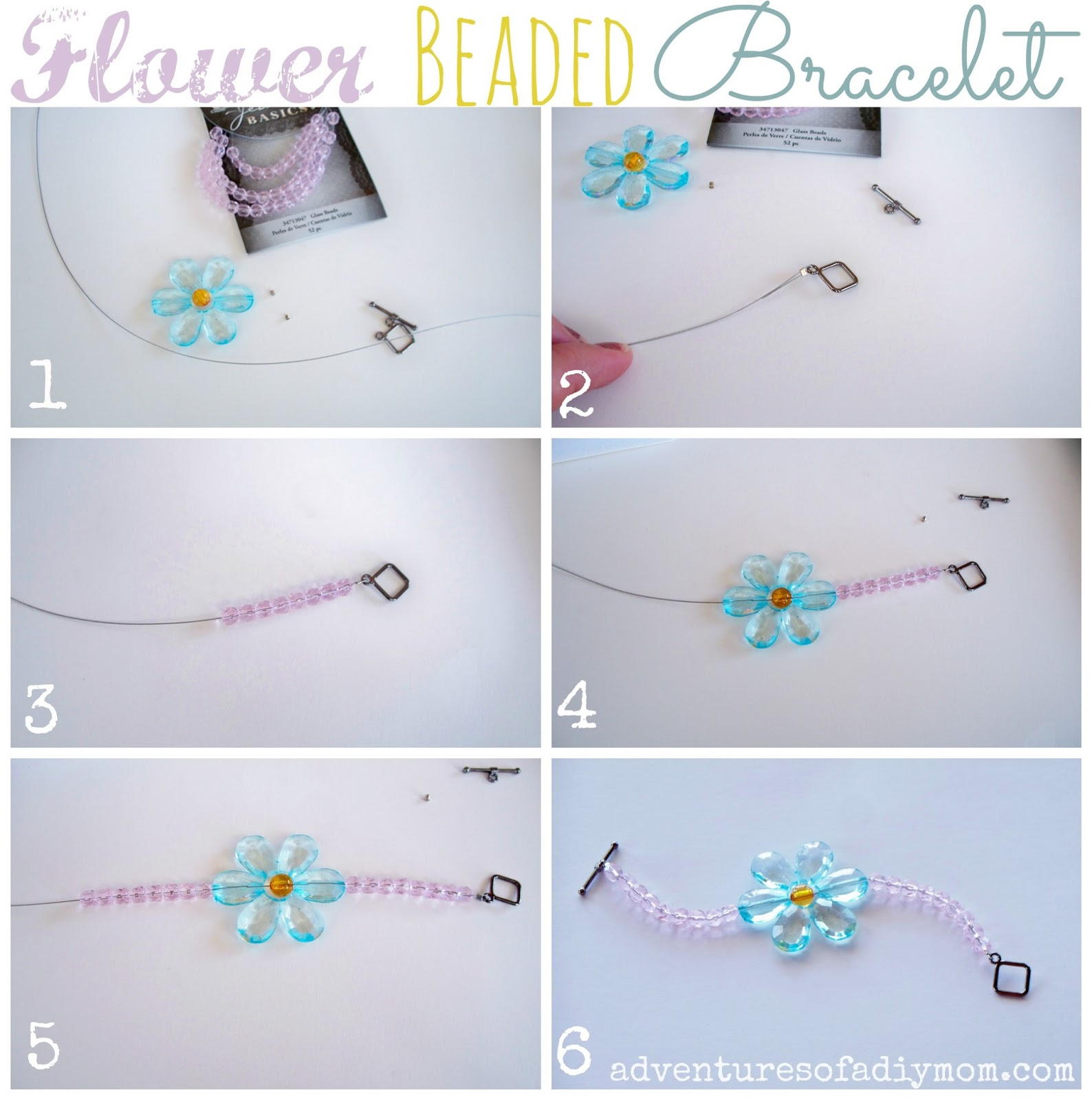 How to Make a Flower Beaded Bracelet