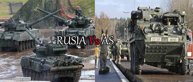 Ngeri! Ini Daftar Peta Kekuatan Militer AS VS Rusia Bila Perang Dunia III Meletus