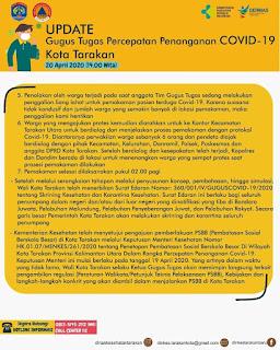 Press Release COVID-19 Tarakan 20 April 2020 - Tarakan Info