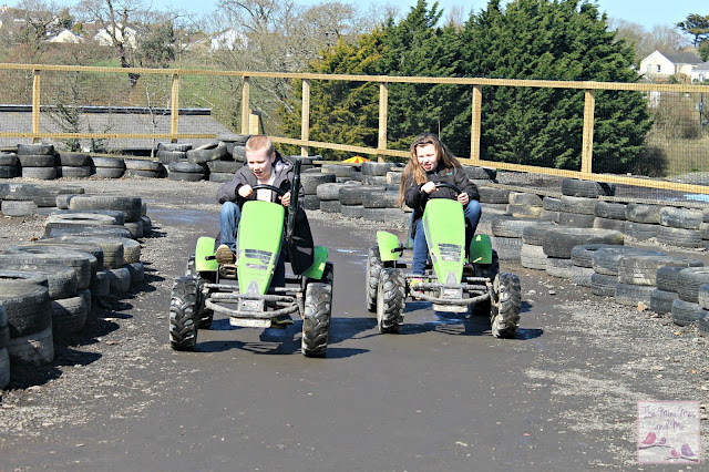 Go karting at The Big Sheep Bideford Devon
