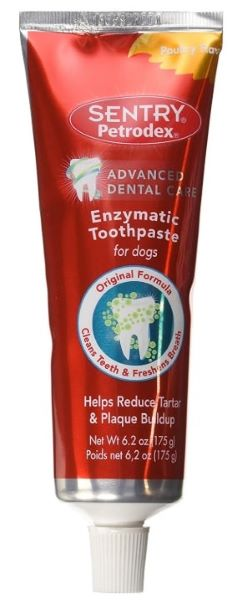 This doggie toothpaste helps keep your dogs mouth healthy.