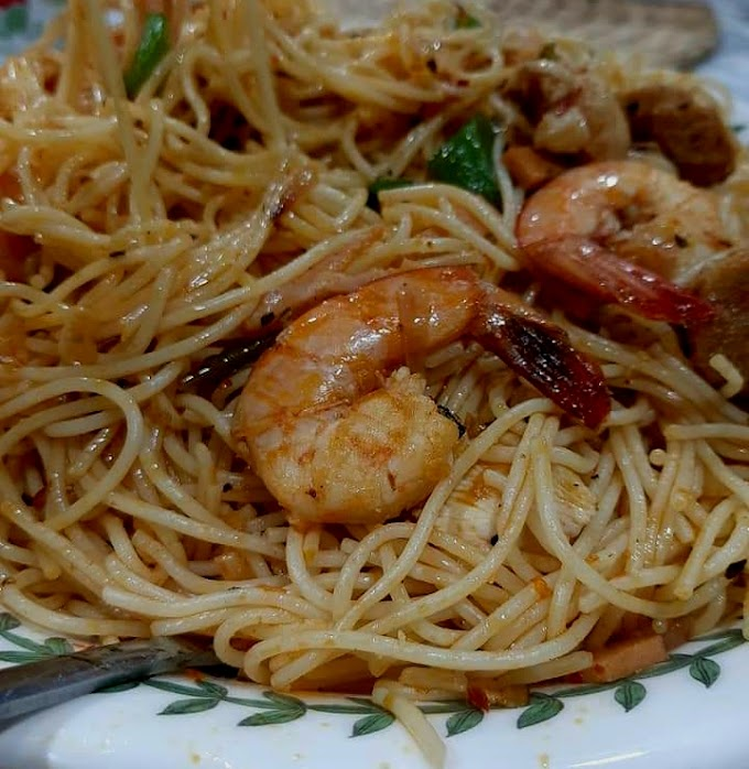 Resipi Spaghetti Goreng Pedas Berapi
