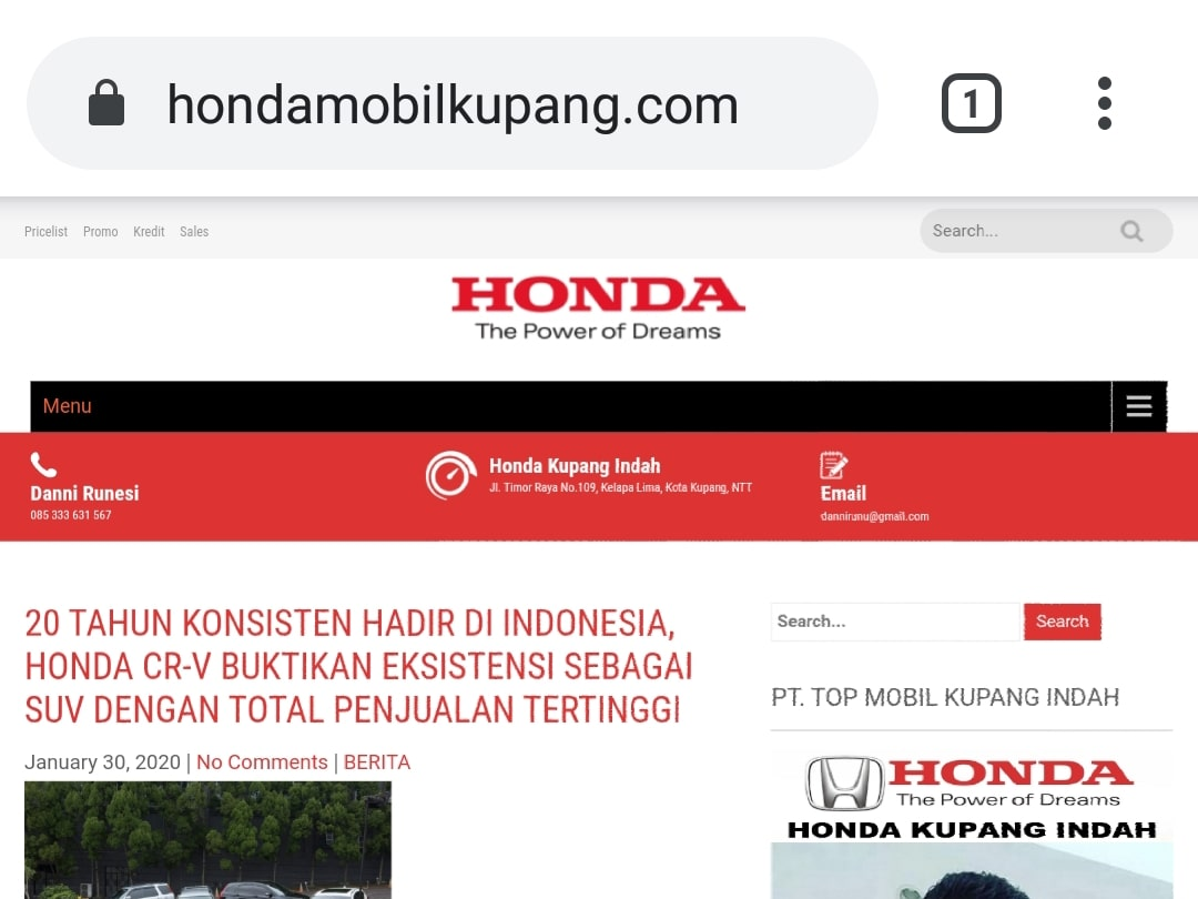 Website Honda Kupang By Bayu-Media Web & Ads