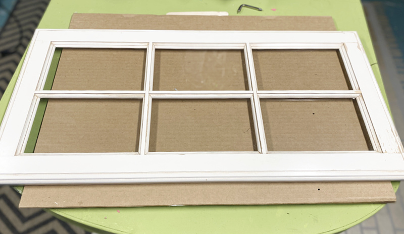 Stenciled Window Decor