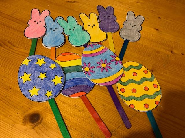 Easter, Craft, Puppet, Eggs, Bunnies,