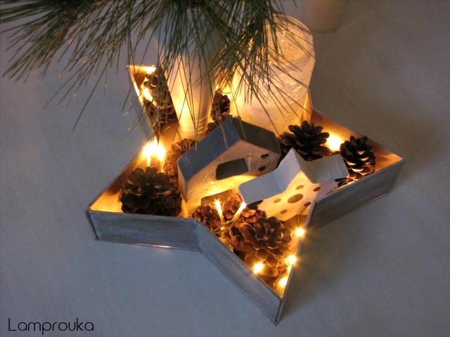 Χριστουγεννιάτικος δίσκος αστέρι.