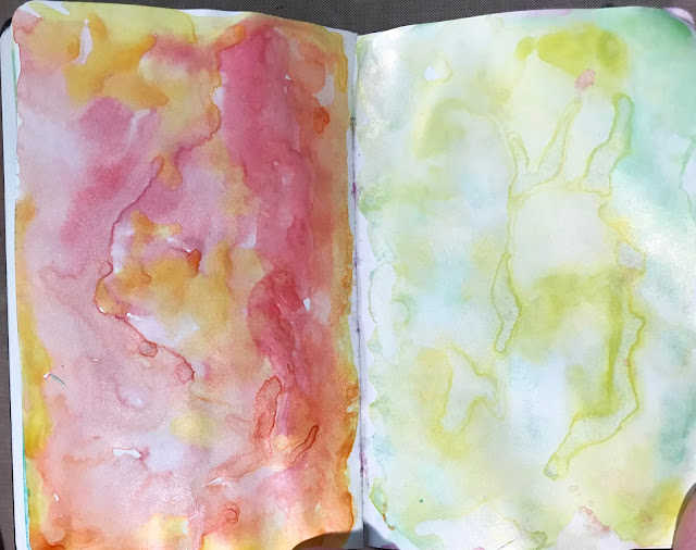 Cosmic Shimmer Watercolor paints from Joggles in my Baby Leda for The 100 Day Project