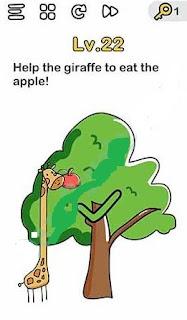 Bantu Jerapah Makan Apel Brain Out