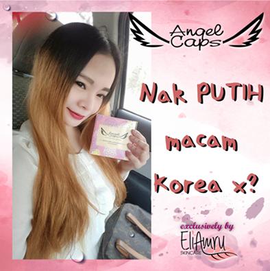 angel caps, kulit putih macam orang korea, produk kecantikan dari korea, suplemen kecantikan korea