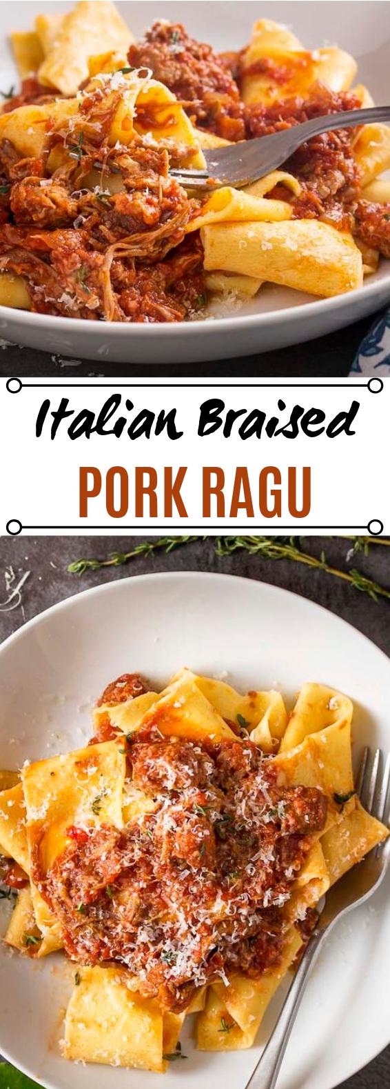 Italian Braised Pork Shoulder Ragu #pasta #dinner