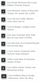 Cara Membuat Widget Popular Post Simple dan Elegan