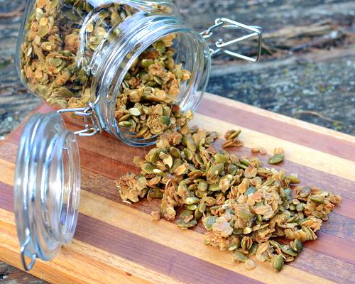 Sweet Pumpkin Seed Crumbles, a fall favorite ♥ A Veggie Venture