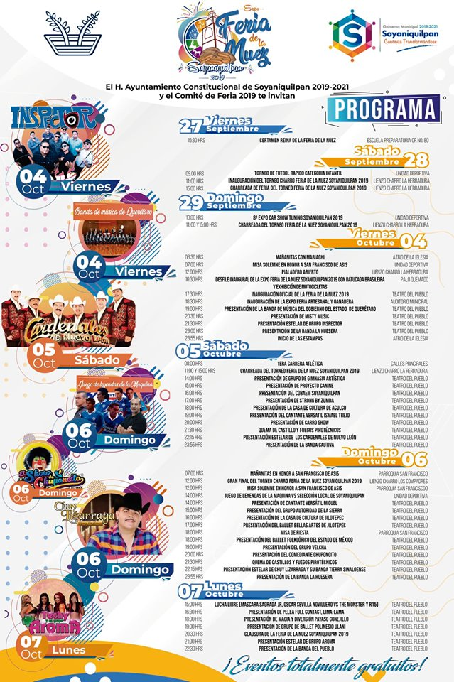 programa feria de la nuez soyaniquilpan 2019