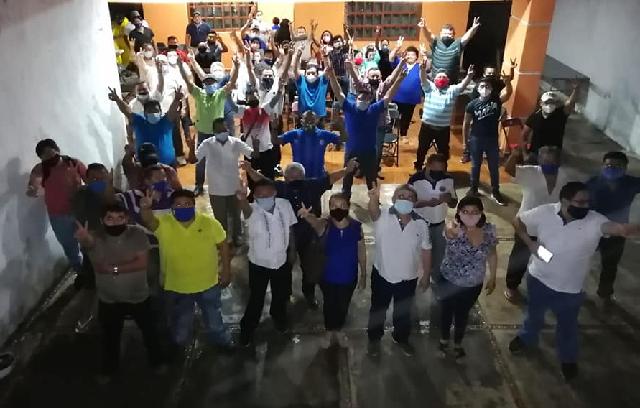 """Ex alcalde Leonor Chan Uicab y Mario, Mario Bojórquez Gamboa """"Yodi"""" concretan acuerdo de unidad"""