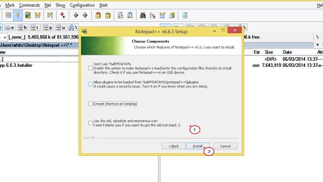 التثبيت برنامج Notepad ++