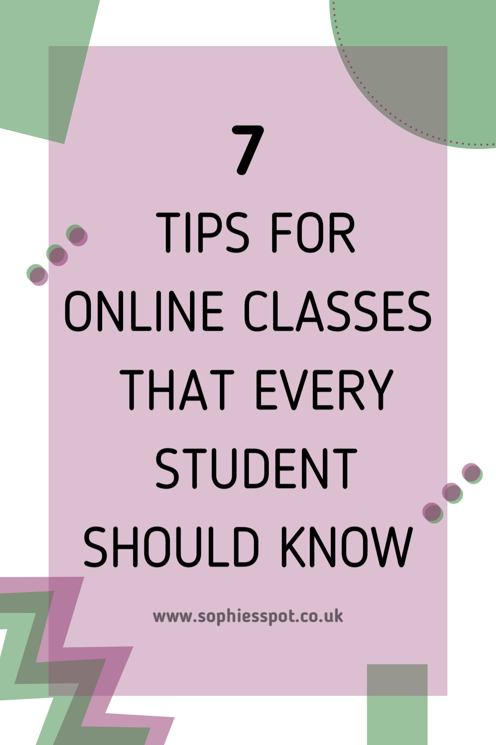 studying online classes for students