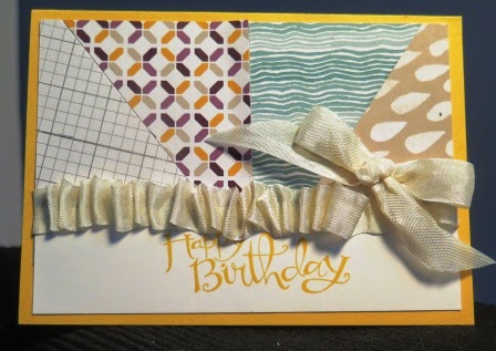 ruffled ribbon, zena kennedy independent stampin up demonstrator Australia