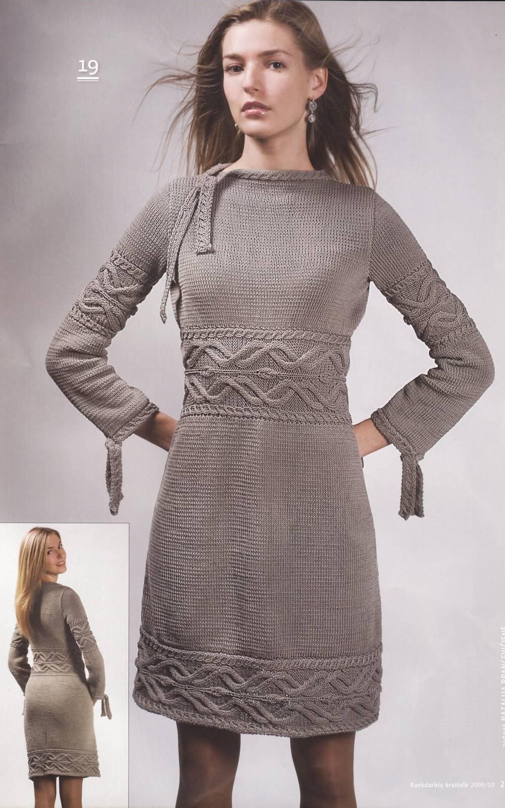 вязание платья спицами все о моде
