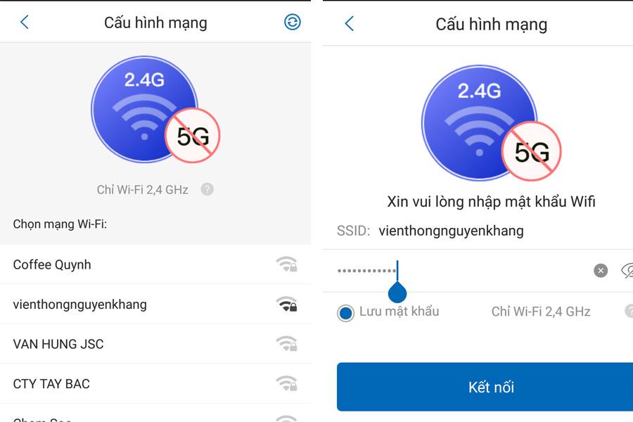 kết nối wifi cho camera kbone kn-b21f
