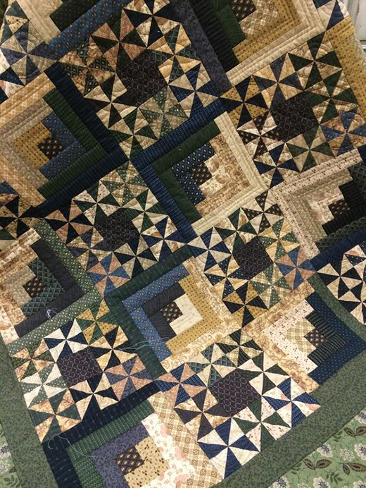 Woodlands Quilt Designed by Candy Hargrove, Quilted by Maggi Honeyman