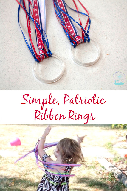 Dancing Ribbon Rings are a Simple Patriotic Craft