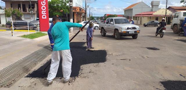 Prefeitura intensifica trabalho de recuperação, limpeza e manutenção de vias