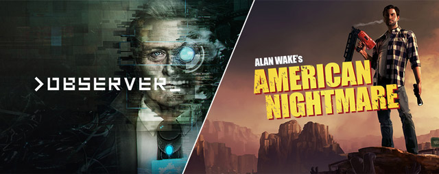 Observer and Alan wake free to epic game store