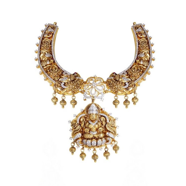 Peacock Lakshmi Kante with Gold Balls