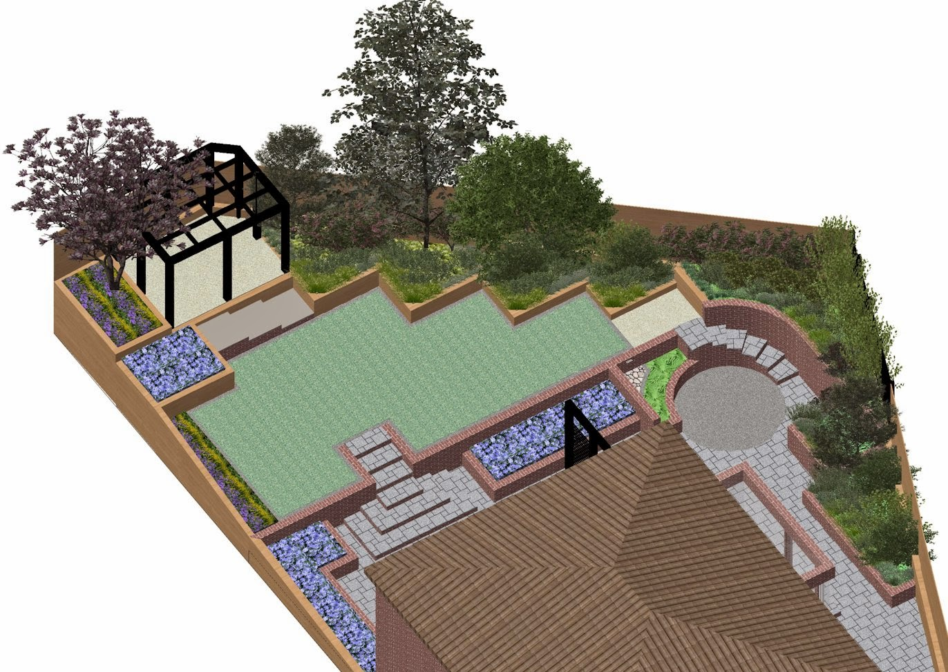A Life Designing: How to design a sloping garden - Part 1 ... on Sloping Gardens Design Ideas id=13504