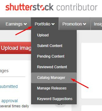 set shutterstock catalog manager