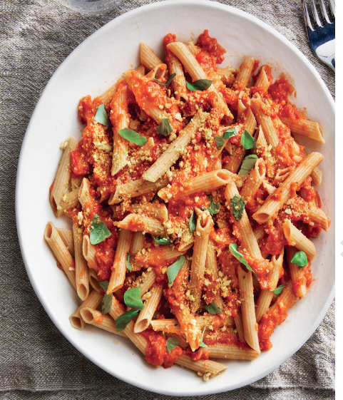 HEALTHY DINNER PASTA  WITH ROASTED TOMATO SAUCE
