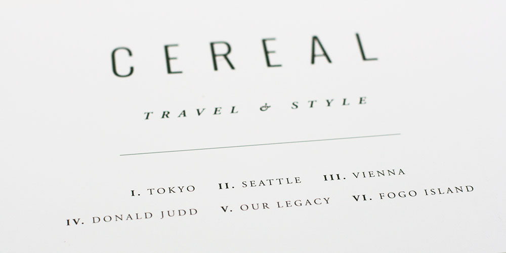 Cereal Magazine, issue 11
