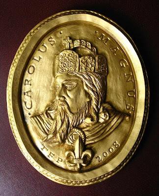 Carlos Magno medalhão comemorativo