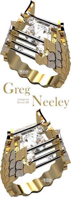 Greg Neeley Caged Fire Diamond Ring #jewelry #brilliantluxury